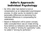 adler s approach individual psychology