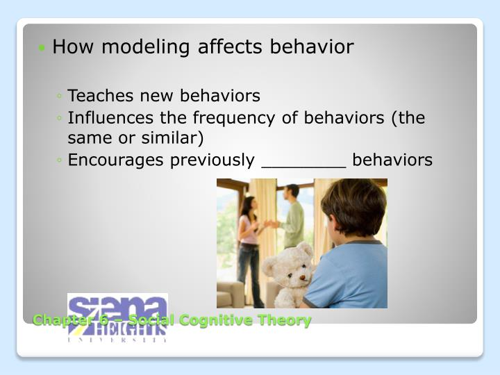How modeling affects behavior