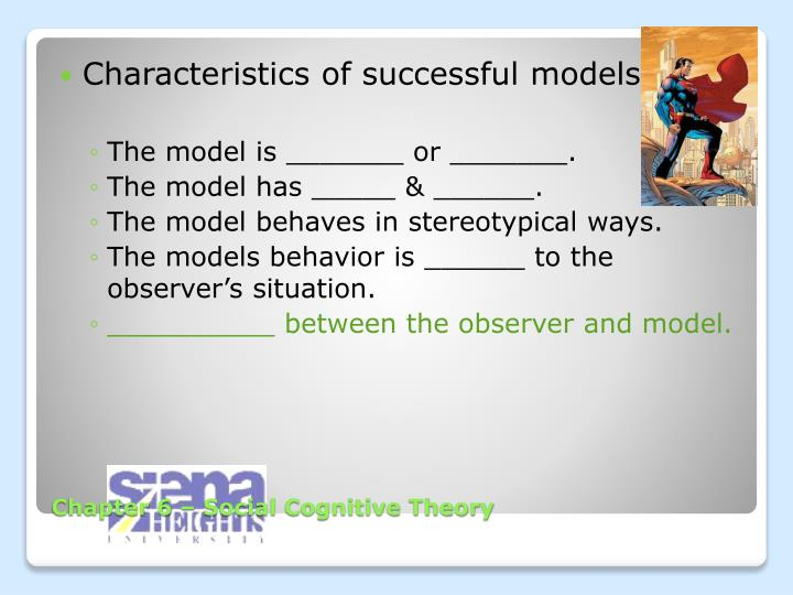 Characteristics of successful models