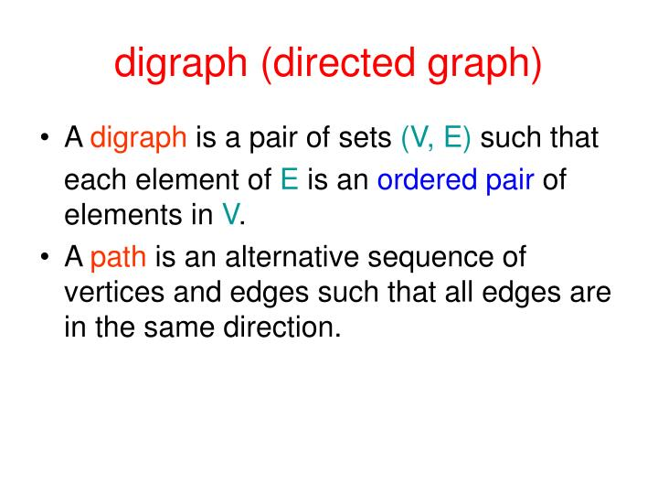 digraph (directed graph)
