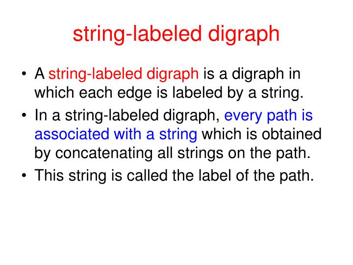 string-labeled digraph