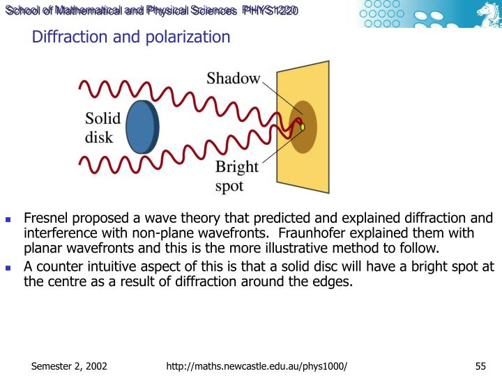 Diffraction and polarization