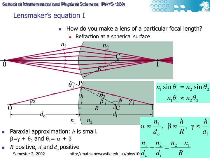 Lensmaker's