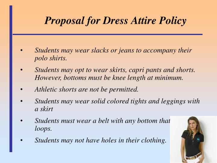 Proposal for dress attire policy1