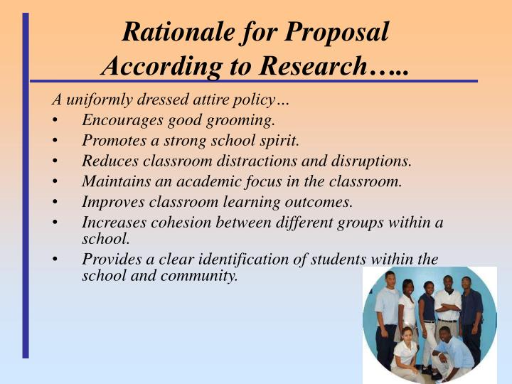 Rationale for Proposal
