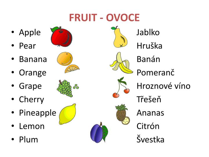 FRUIT - OVOCE