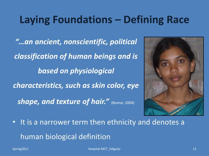 Laying Foundations – Defining Race