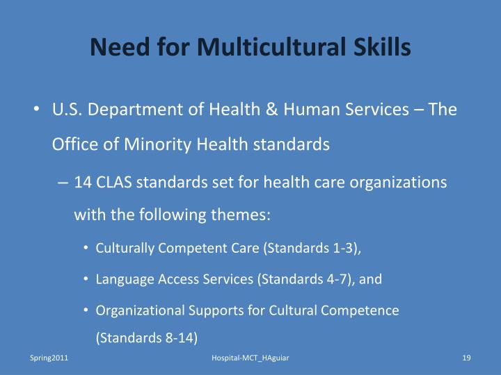Need for Multicultural Skills
