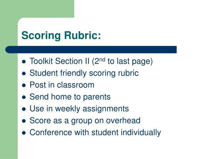 Scoring Rubric: