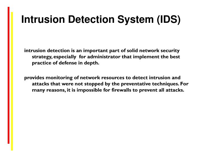 Intrusion Detection System (IDS)