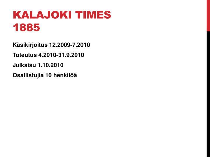 Kalajoki Times 1885