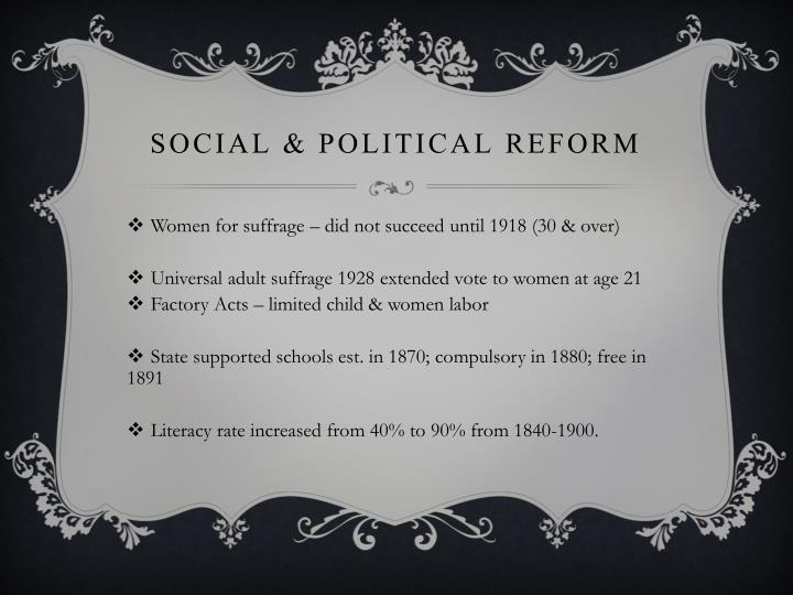 Social & Political Reform