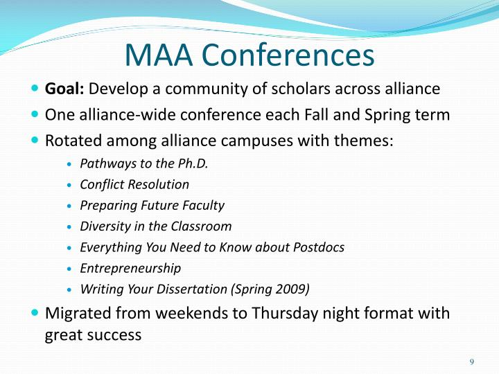 MAA Conferences