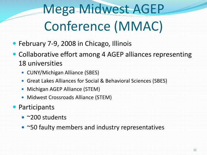 Mega Midwest AGEP Conference (MMAC)