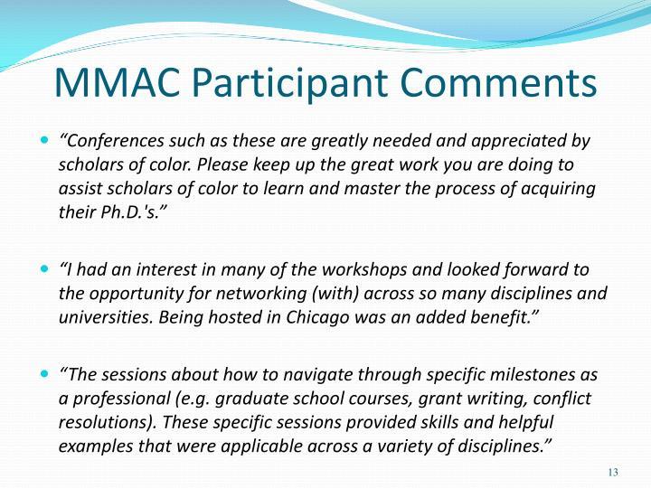 MMAC Participant Comments