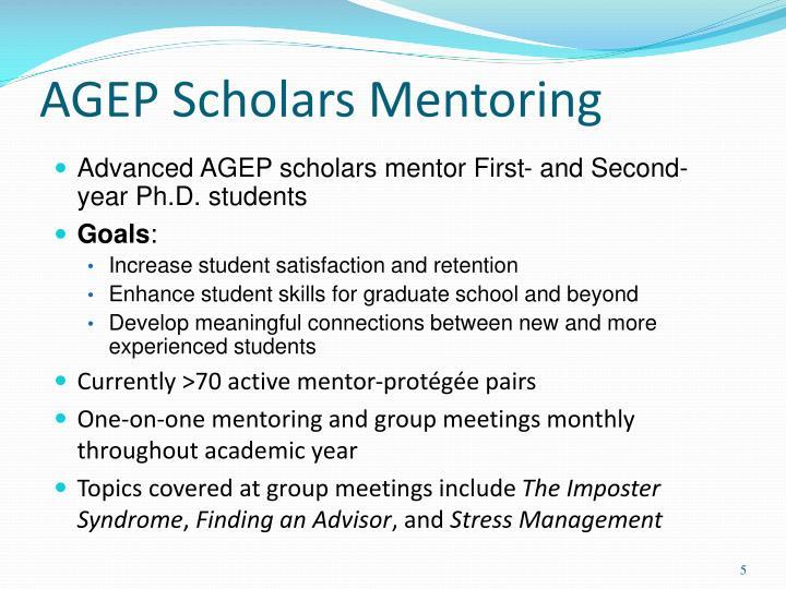 AGEP Scholars Mentoring