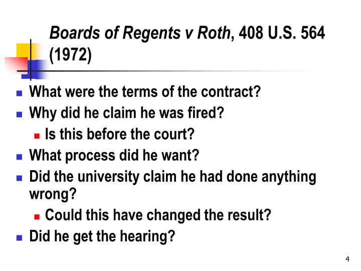 Boards of Regents v Roth