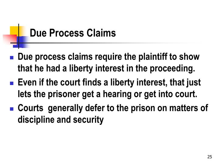 Due Process Claims