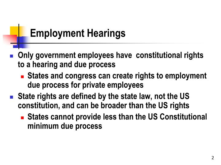 Employment hearings