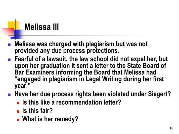 Melissa III