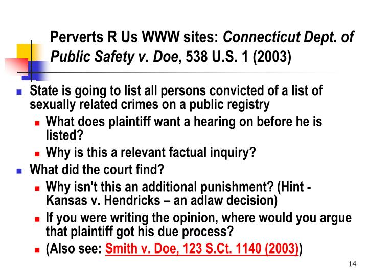 Perverts R Us WWW sites: