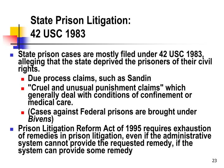 State Prison Litigation: