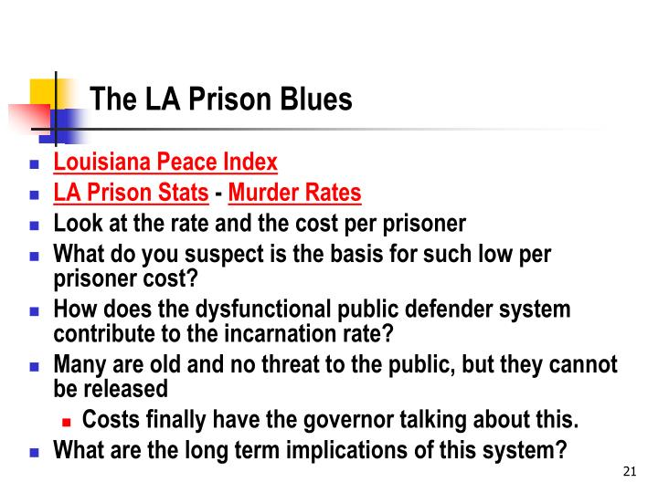 The LA Prison Blues