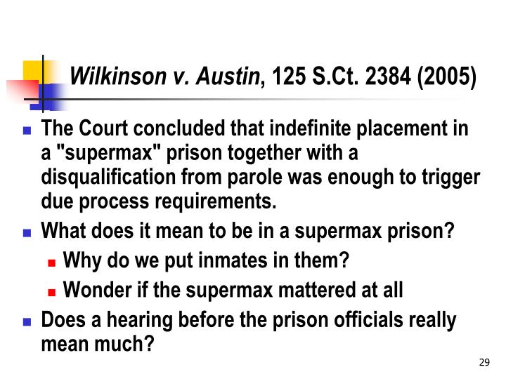 Wilkinson v. Austin