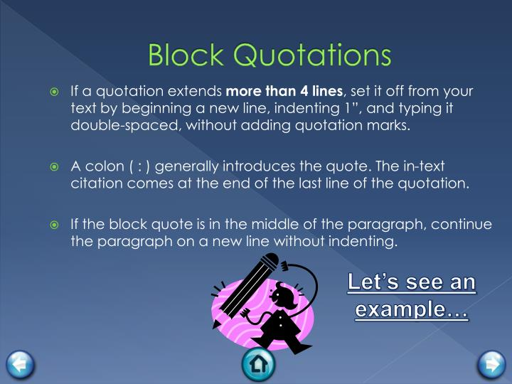 Block Quotations