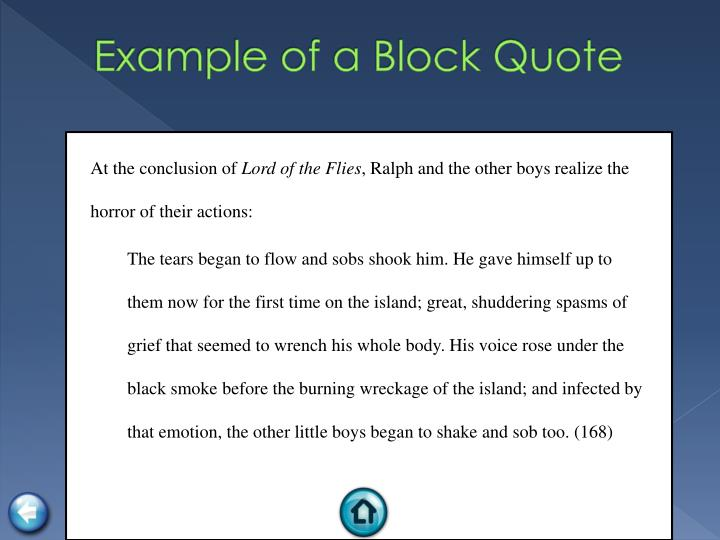 Example of a Block Quote
