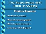 the basic seven b7 tools of quality1