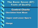 the basic seven b7 tools of quality7