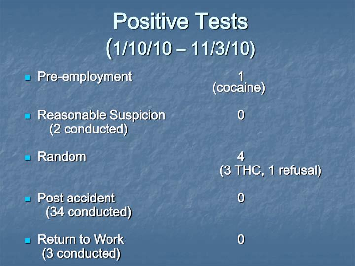 Positive Tests
