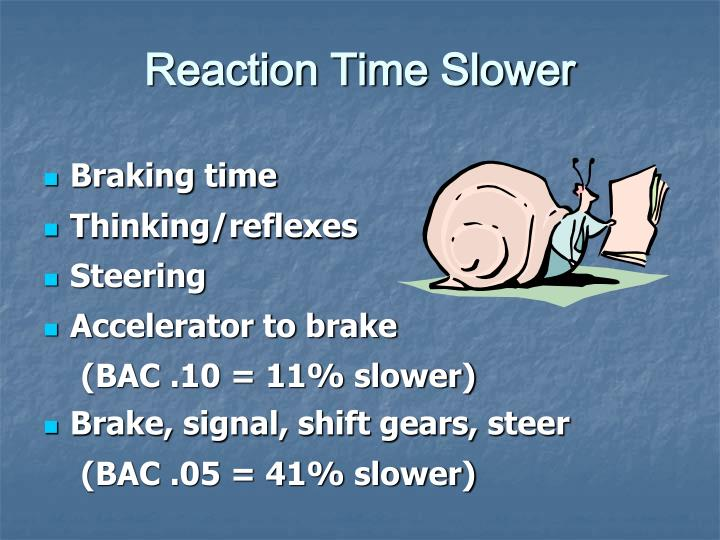 Reaction Time Slower