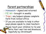 parent partnerships