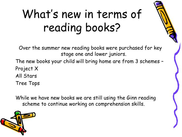 What's new in terms of reading books?