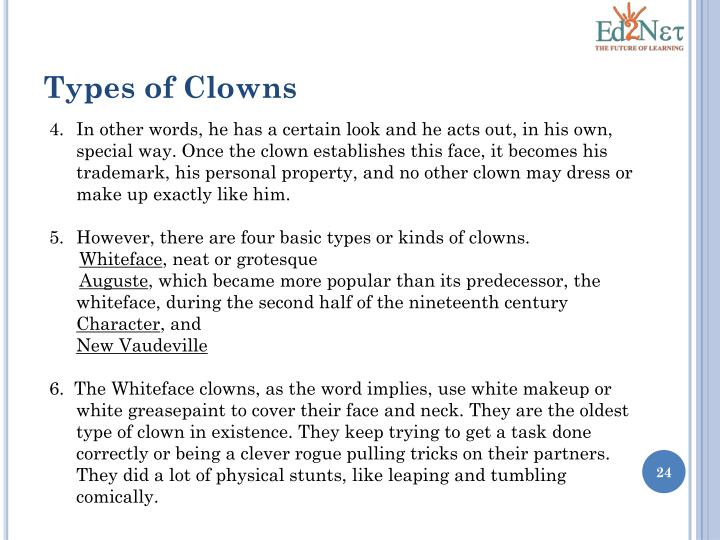 Types of Clowns