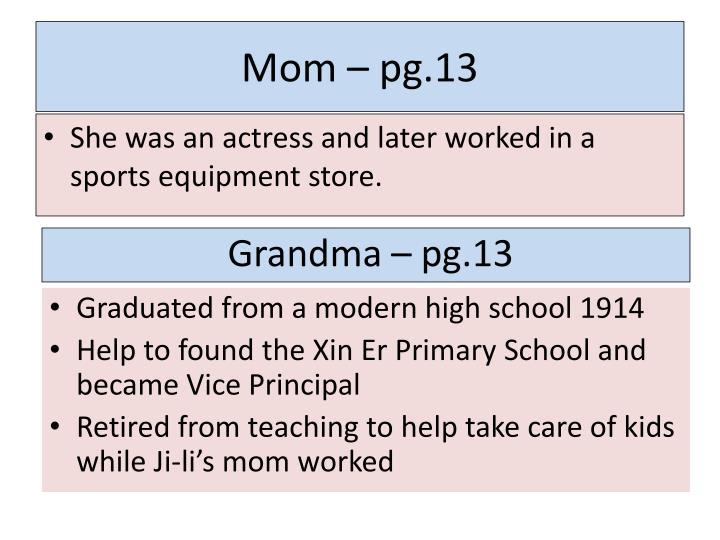 Mom – pg.13