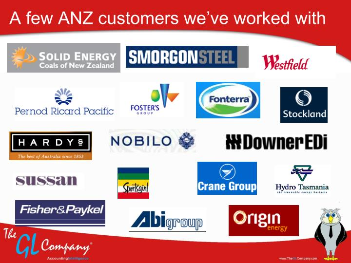 A few ANZ customers we've worked with