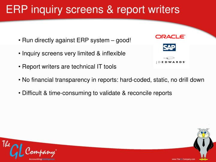 ERP inquiry screens & report writers