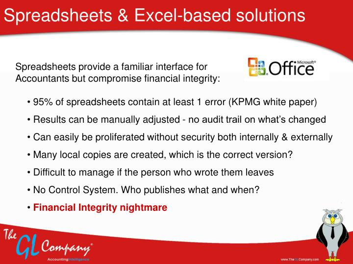 Spreadsheets & Excel-based solutions
