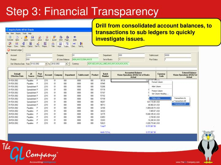 Step 3: Financial Transparency