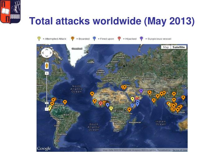 Total attacks worldwide (May 2013)