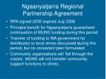 ngaanyatjarra regional partnership agreement