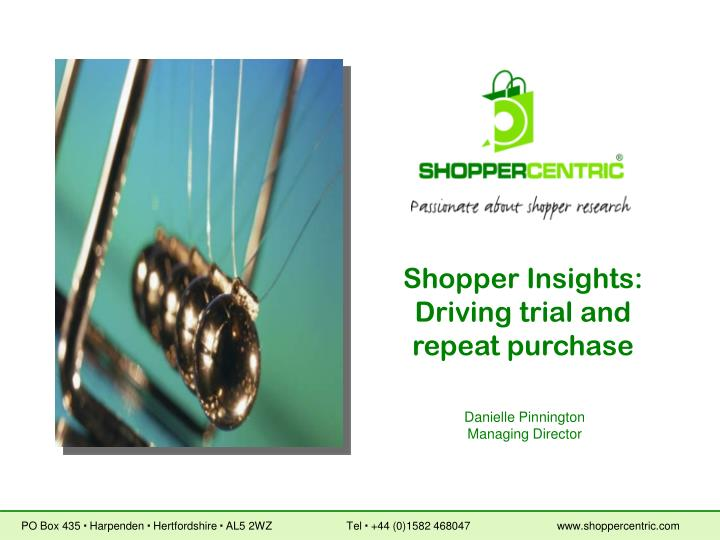 Shopper Insights: