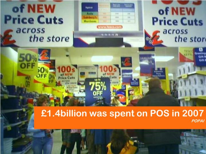 £1.4billion was spent on POS in 2007