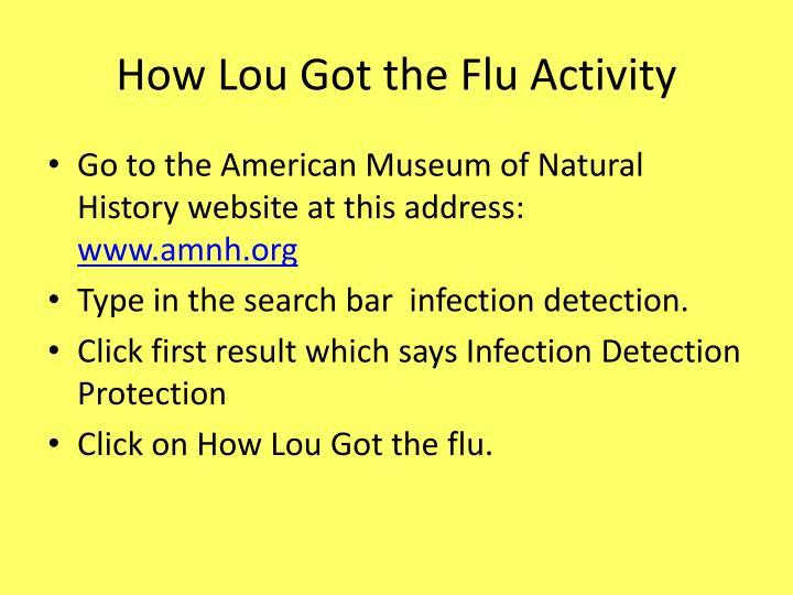 How Lou Got the Flu Activity