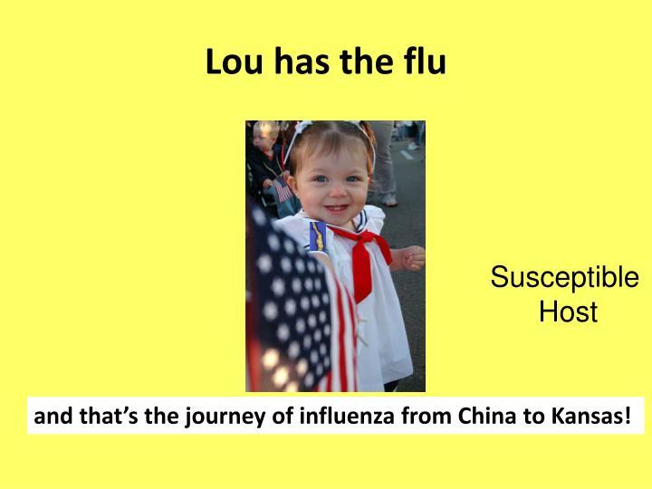 Lou has the flu