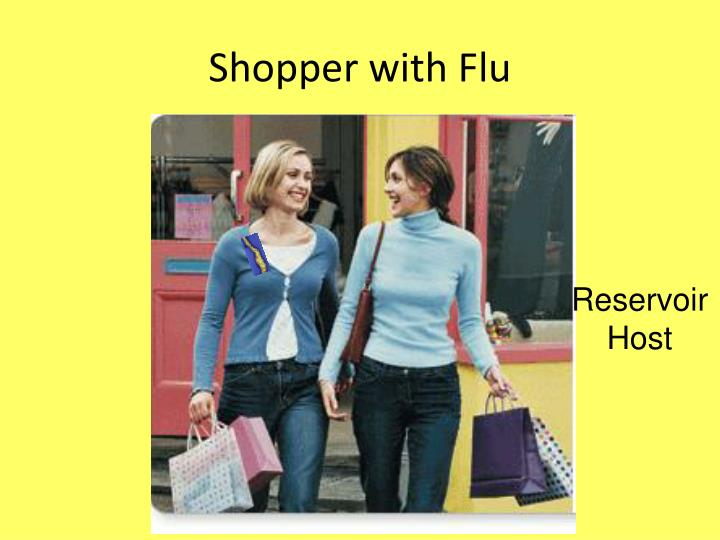 Shopper with Flu