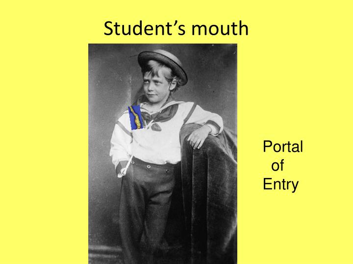 Student's mouth